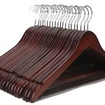 JS-Hanger-Solid-Wooden-Suit-Hangers-Walnut-Finish-with-Polished-Chrome-Hooks-20-Pack-0