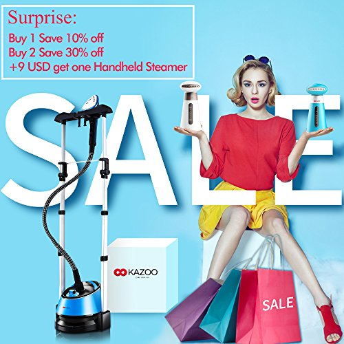 KAZOO-1600-ml-Household-Use-Wrinkle-Remover-Clothes-Fabric-Garment-Steamer-Portable-with-Stand-0