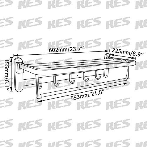 KES-Bathroom-Aluminum-Foldable-Towel-Rack-with-Coat-and-Robe-Hooks-Wall-Mount-0-0