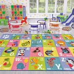 Kev-Cooper-Playtime-Collection-ABC-Alphabet-Animal-Educational-Area-Rug-50-x-66-0-1