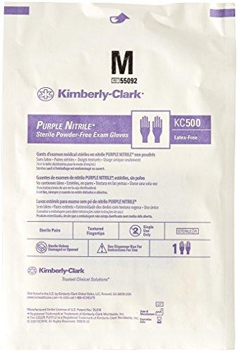 Kimberly-Clark-Safety-55092-Purple-Nitrile-Exam-Glove-Sterile-Pairs-Medium-Pack-of-50-0