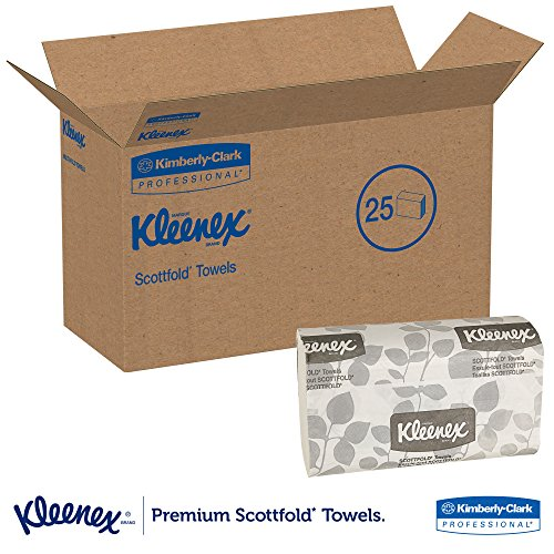 Kleenex-Scottfold-Multifold-Paper-Towels-13253-with-Fast-Drying-Absorbency-Pockets-White-25-Packs-Case-120-Trifold-Towels-Pack-3000-Towels-Case-0-1