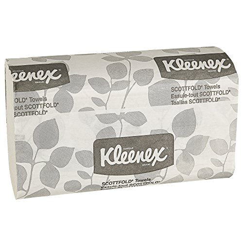 Kleenex-Scottfold-Multifold-Paper-Towels-13253-with-Fast-Drying-Absorbency-Pockets-White-25-Packs-Case-120-Trifold-Towels-Pack-3000-Towels-Case-0