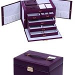 LARGE-PURPLE-LEATHER-JEWELRY-BOX-CASE-STORAGE-ORGANIZER-WITH-TRAVEL-CASE-AND-LOCK-0-1