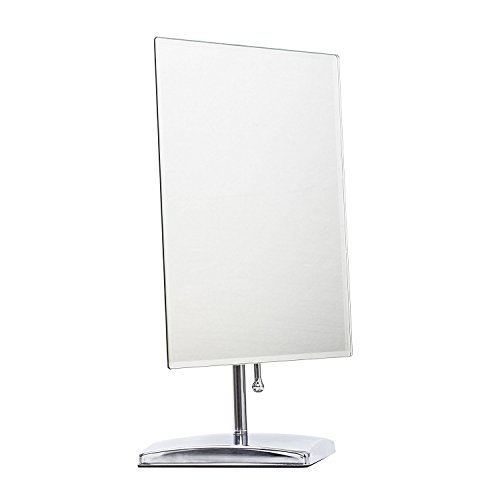 LEJU-Premium-Modern-Rectangle-Vanity-Makeup-Mirror-Portable-Polished-Chrome-Contemporary-Finish-Adjustable-Easy-Positioning-Best-Luxury-Quality-Beauty-Mirror-0