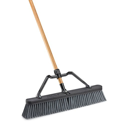 LIBMAN-829-Push-Broom-with-Hard-Polymer-Support-Brace-24-Heavy-Duty-Bristles-Wood-Handle-0