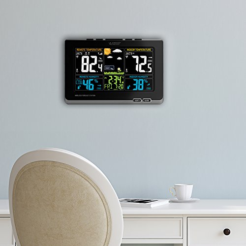 La-Crosse-Technology-308-1414MB-INT-Wireless-Color-Weather-Station-with-Mold-Indicator-Black-0-1