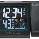 La-Crosse-Technology-616-146-Color-Projection-Alarm-Clock-with-Outdoor-temperature-Charging-USB-port-0