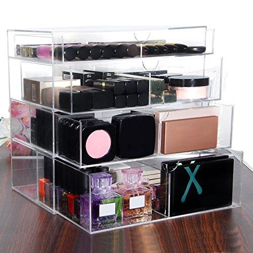 Langforth-Large-Beauty-Cube-4-Tier-Drawers-Acrylic-Cosmetic-Box-Handmade-Vanity-Makeup-Organizer-Storage-118x118x78-0-0