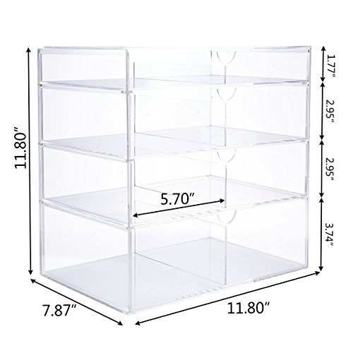 Langforth-Large-Beauty-Cube-4-Tier-Drawers-Acrylic-Cosmetic-Box-Handmade-Vanity-Makeup-Organizer-Storage-118x118x78-0-1