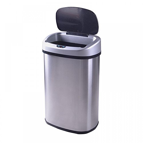 Levpet-13-Gallon-Touch-Free-Trash-Can-Stainless-Steel-0