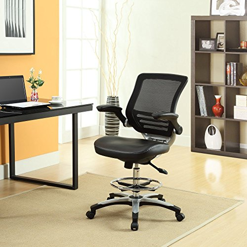 Lexmod Edge Drafting Chair Brown Local Home Store