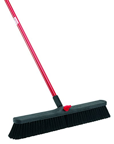 Libman-Commercial-801-Smooth-Surface-Push-Broom-64-Length-24-Width-BlackRed-Pack-of-4-0