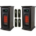 LifeSmart-LifePro-3-Element-Electric-Infrared-Quartz-Tower-Space-Heater-Pair-0