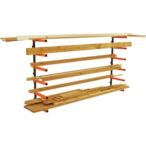 Lumber-Storage-Rack-Portamate-PBR-001-Six-Level-Wall-Mount-Wood-Organizer-Rack-that-Holds-Up-to-100-lbs-per-Level-Ideal-for-both-Indoor-and-Outdoor-Use-0