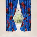 Marvel-Spiderman-Astonish-Curtain-Panel-42-x-63-Pair-with-Tie-Backs-Set-0-0