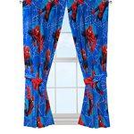 Marvel-Spiderman-Astonish-Curtain-Panel-42-x-63-Pair-with-Tie-Backs-Set-0