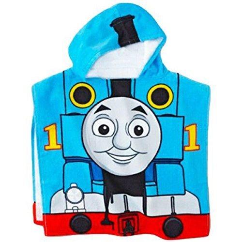 Mattel-Thomas-The-Tank-Engine-Fun-Hooded-TowelPoncho-22-X-44-0