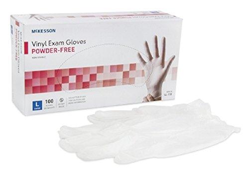 Medi-Pak-Non-Sterile-Powder-Free-Vinyl-Exam-Gloves-Smooth-Ivory-Ambidextrous-Large-Case-of-1000-100-per-Box-10-Boxes-per-Case-0