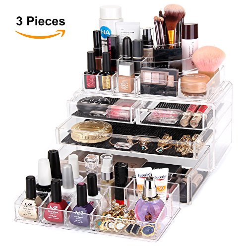 MelodySusie-Acrylic-Makeup-Organizer-with-10-Compartments-0