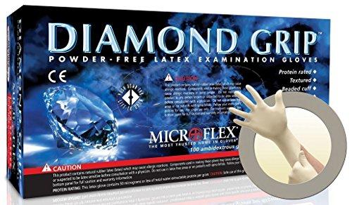 Microflex-MF-300-L-DIAMOND-GRIP-POWDER-FREE-LATEX-EXAM-GLOVES-LG-case-of-1000-0