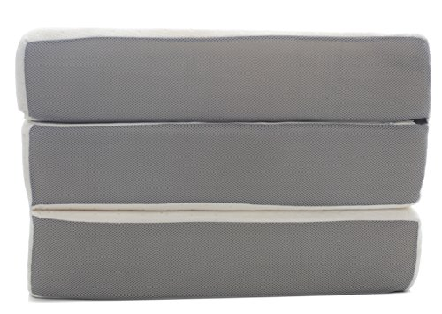Milliard-6-Inch-Memory-Foam-Tri-fold-Mattress-with-Ultra-Soft-Removable-Cover-with-Non-Slip-Bottom-0-1