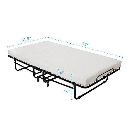 Milliard-Premium-Folding-Bed-with-Luxurious-Memory-Foam-Mattress-Super-Strong-Sturdy-Frame-No-Assembly-Required-Just-Screw-in-the-Wheels-and-Go-75-X-315-0-0