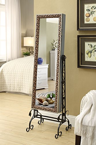 Mirrored-Jewelry-Cabinet-Armoire-Organizer-W-Stand-Tilting-Mirror-Bins-Drawers-Hooks-And-Bars-0