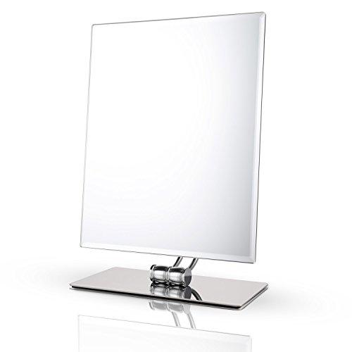 Miusco Tabletop Vanity Makeup Mirror, Rectangle, Chrome