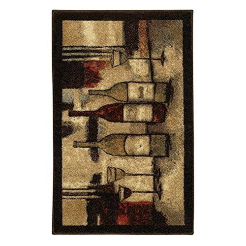 Mohawk Home New Wave Wine And Glasses Printed Rug Local