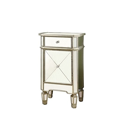 Monarch-Specialties-1-Drawer-Accent-Cabinet-Mirrored-0-0