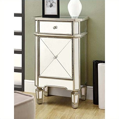 Monarch-Specialties-1-Drawer-Accent-Cabinet-Mirrored-0