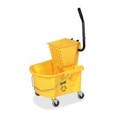 Mop-Bucket-Wringer-Combo-3-Casters-26-qt-Yellow-0