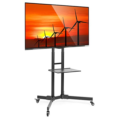 Mount-Factory-Rolling-TV-Stand-Mobile-TV-Cart-for-32-65-inch-Plasma-Screen-LED-LCD-OLED-Curved-TVs-Mount-Universal-with-Wheels-0