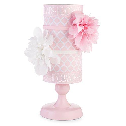 Mud-Pie-Baby-Girl-Home-Organization-Pink-and-white-Headband-Holder-176223-0