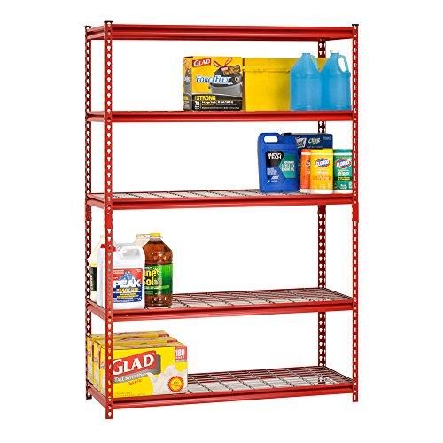 Muscle-Rack-UR184872-R-5-Shelf-Steel-Shelving-Unit-48-Width-x-72-Height-x-18-Length-Red-0-0