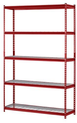 Muscle-Rack-UR184872-R-5-Shelf-Steel-Shelving-Unit-48-Width-x-72-Height-x-18-Length-Red-0