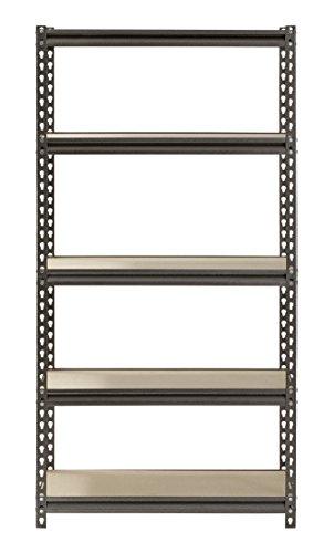 Muscle-Rack-UR301260PB5P-SV-Silver-Vein-Steel-Storage-Rack-5-Adjustable-Shelves-4000-lb-Capacity-60-Height-x-30-Width-x-12-Depth-0-1
