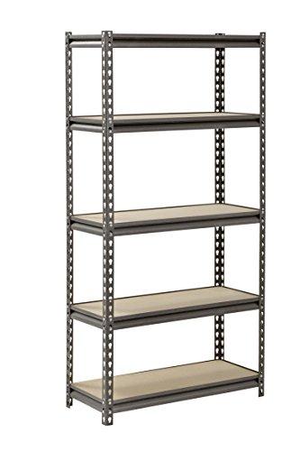 Muscle-Rack-UR301260PB5P-SV-Silver-Vein-Steel-Storage-Rack-5-Adjustable-Shelves-4000-lb-Capacity-60-Height-x-30-Width-x-12-Depth-0