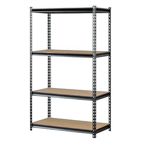 Muscle-Rack-UR361860PB4P-SV-Silver-Vein-Steel-Storage-Rack-4-Adjustable-Shelves-3200-lb-Capacity-60-Height-x-36-Width-x-18-Depth-0