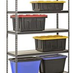 Muscle-Rack-UR481872PB5P-SV-Silver-Vein-Steel-Storage-Rack-5-Adjustable-Shelves-4000-lb-Capacity-72-Height-x-48-Width-x-18-Depth-0-1