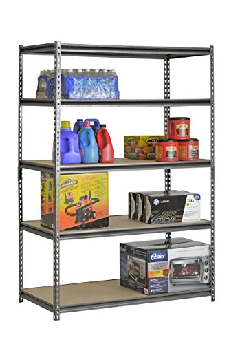 Muscle-Rack-UR482472PB5P-SV-Silver-Vein-Steel-Storage-Rack-5-Adjustable-Shelves-4000-lb-Capacity-72-Height-x-48-Width-x-24-Depth-0-1