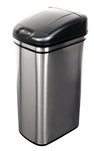 NST-Nine-Stars-DZT-42-1-Infrared-Touchless-Automatic-Motion-Sensor-Lid-Open-Trash-Can-111-Gallon-0