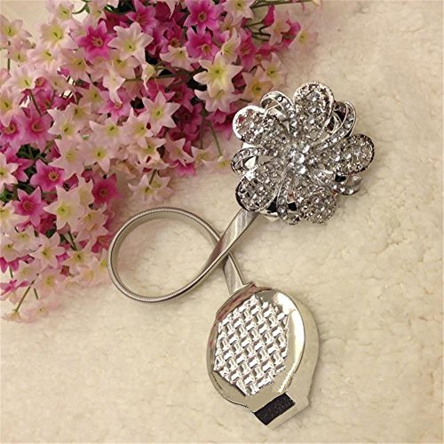 Nanami-Chic-One-Pair-Curtain-Clips-Curtain-Attraction-Appliance-Buckle-Magnetic-Tieback-Creative-Diamond-Curtain-Bind-Europe-Type-Silver-0-0