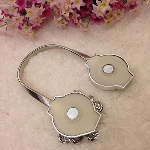 Nanami-Chic-One-Pair-Curtain-Clips-Curtain-Attraction-Appliance-Buckle-Magnetic-Tieback-Creative-Diamond-Curtain-Bind-Europe-Type-Silver-0-1