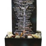 Natures-Mark-Slate-Brick-Wall-LED-Relaxation-Water-Fountain-with-Authentic-River-Rocks-0