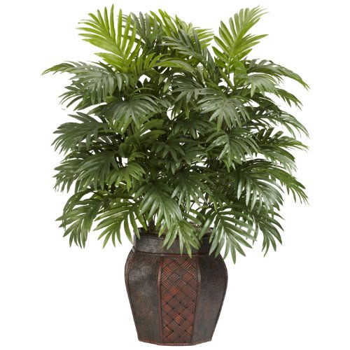 Nearly-Natural-6651-Areca-Palm-with-Vase-Decorative-Silk-Plant-Green-0