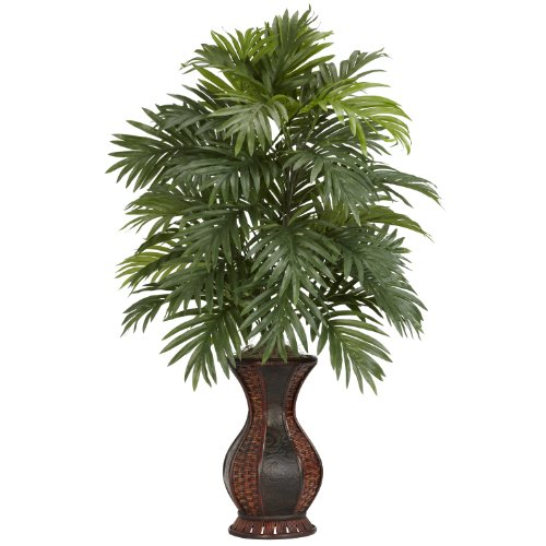 Nearly-Natural-6661-Areca-Palm-with-Urn-Decorative-Silk-Plant-Green-0