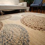New-City-Contemporary-Brown-Beige-Modern-Flowers-Circles-Wool-Area-Rug-4030-0-1