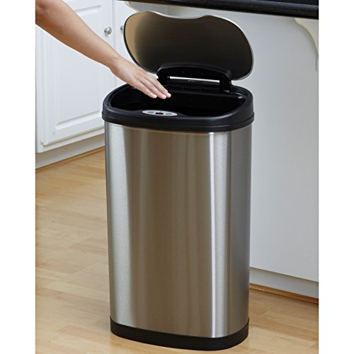 Nine-Stars-DZT-50-13-Touchless-Stainless-Steel-132-Gallon-Trash-Can-0-0